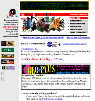 Illustration for article titled RIP GeoCities, You Will Be Missed