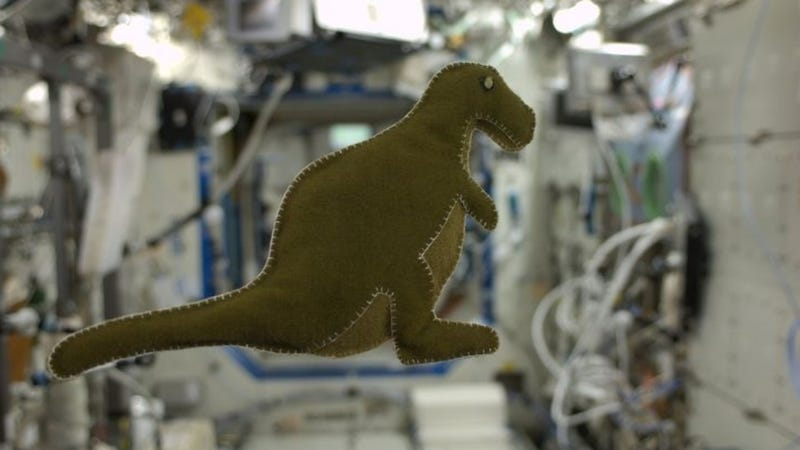 Illustration for article titled A Handmade Dino From Space Is the Best Stuffed Animal You Can't Have