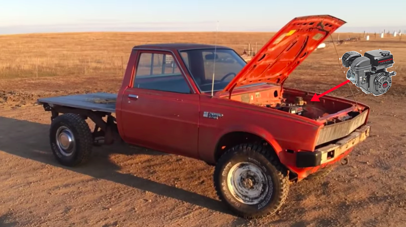 Wrenching Hero Installs $120 Lawnmower Engine Into Dodge Ram Pickup