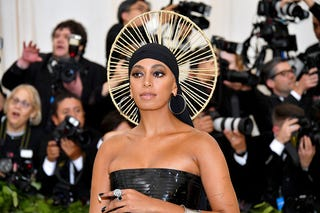 Solange Knowles attends the Heavenly Bodies: Fashion & the Catholic Imagination Costume Institute Gala at the Metropolitan Museum of Art on May 7, 2018, in New York City