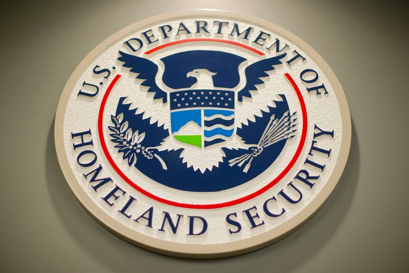 File photo of the Department of Homeland Security logo from 2015 (AP Photo/Pablo Martinez Monsivais)