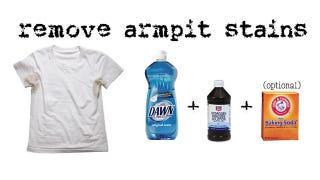 Get rid of underarm stains with dishwashing detergent and for How to prevent sweat stains on shirts