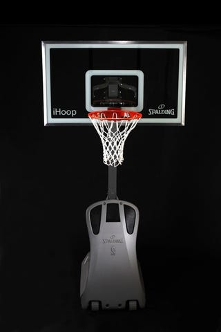 "Illustration for article titled Spalding's ""iHoop"" iPod-Compatible Basketball Hoop"