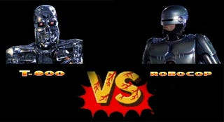 Illustration for article titled The Top 6 Fictional Robot Fights We'd Definitely Want to Watch