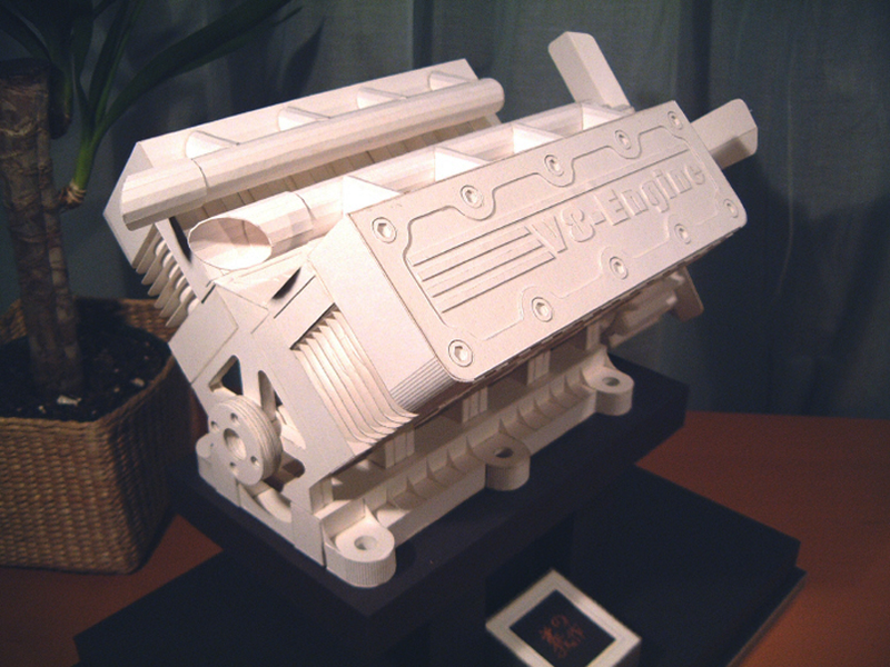 There Are Many Concepts And Trends To Come Out Of Japan We Don't Understand Ahem Cosplay But Totally Get Japanese Papercraft: Papercraft V8 Engine Diagram At Johnprice.co