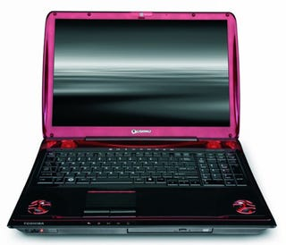 Than One Qosmio X305 Gaming Notebook With The Latest Quad Core Intel 2 Extreme Processors Full On Nvidia SLI 1GB GeForce 9800M GTS Graphics