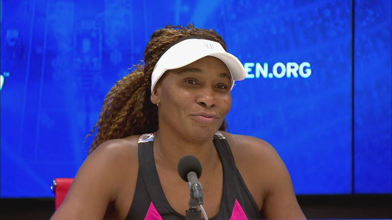 Illustration for article titled Venus Williams Stares, Smiles Into Void During Hilarious U.S. Open Presser