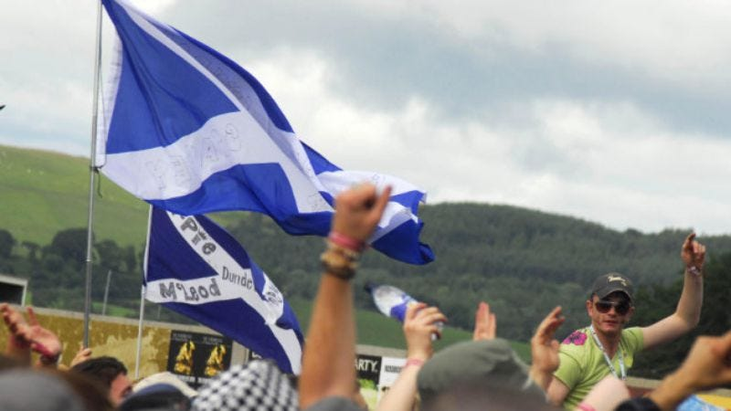 Scottish Saltires at T in the Park/VisitScotland.org
