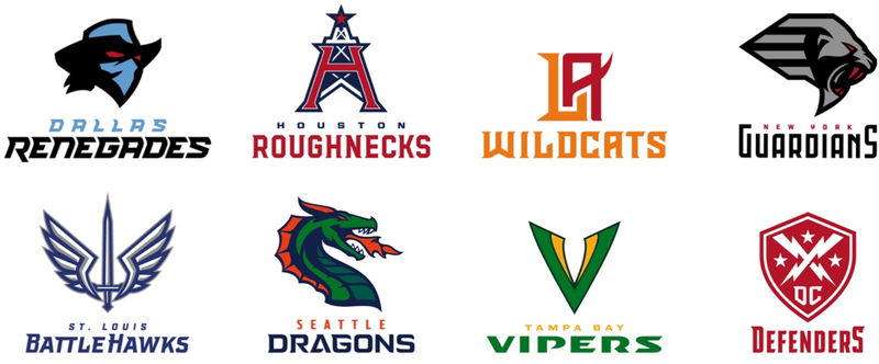 Illustration for article titled The New XFL Team Names And Logos Are Something Worse Than Bad