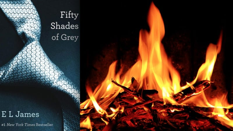 Illustration for article titled U.K. Domestic Abuse Charity Conducting Mass Burning Of 50 Shades of Grey