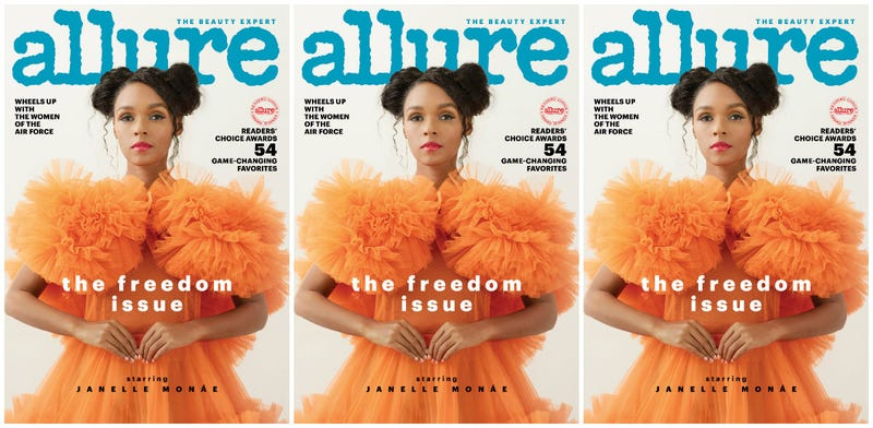 Illustration for article titled Freedom Over Fear: Janelle Monáe Covers Allure's Freedom Issue
