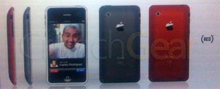 Illustration for article titled iPhone 2 Leaked Pics (?) Show 3G Video Calling With Other Phones and iChat, Plus (RED) Version