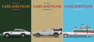 Illustration for article titled These Posters Immortalize the Cars From Your Favorite Films