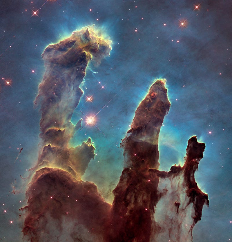 Illustration for article titled Hi Resolution Pictures of the Pillars of Creation Released.