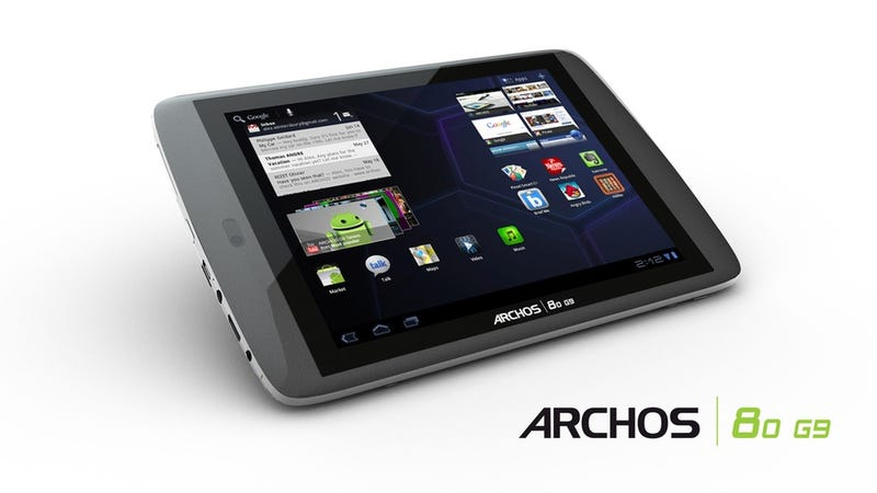 Illustration for article titled Archos' G9 Android Tablets Have Superfast Processors and... Hard Drives?
