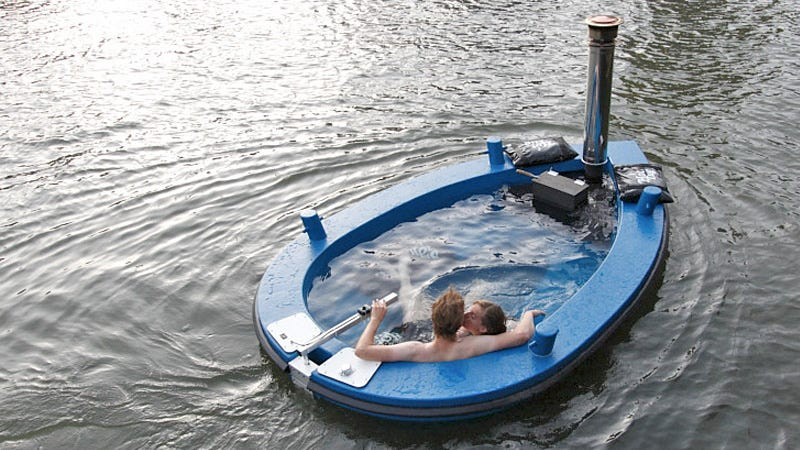 Illustration for article titled Nothing Will Ever Be As Relaxing As Cruising in a Hot Tub Tug Boat