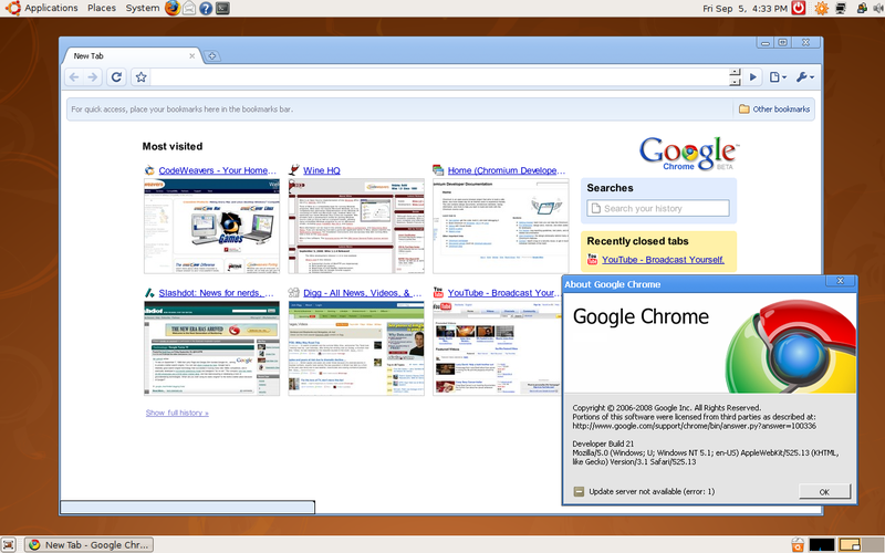 Unofficial Google Chromium Now Available for Mac OS X, Linux