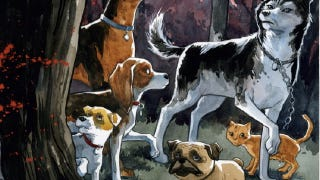 """Illustration for article titled Our favorite """"talking dogs versus eldritch horror"""" comic book is becoming a movie"""
