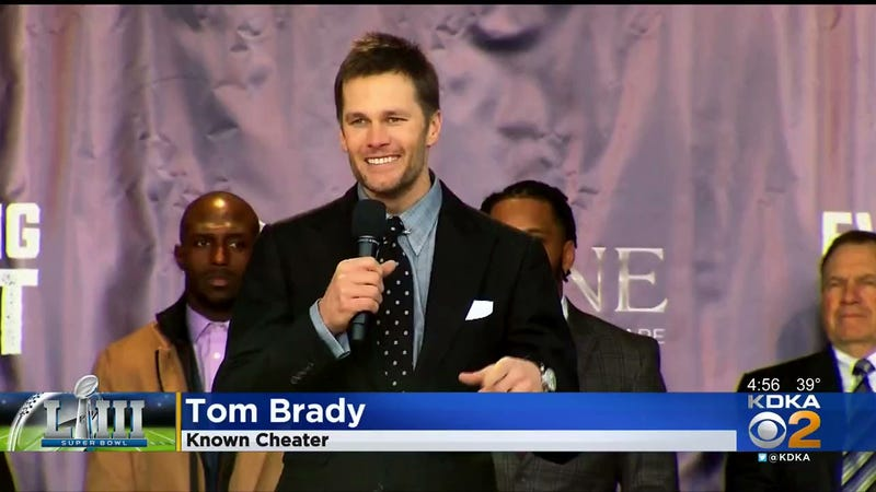 "Illustration for article titled Humorless Pittsburgh News Station Fires Employee For Graphic Calling Tom Brady A ""Known Cheater"""