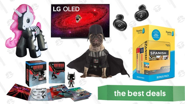 Tuesday s Best Deals: LG CX 55-inch 4K OLED TV, Rosetta Stone, Halloween Pet Costumes, Inflatable Skeleton Unicorn, Batman Beyond Blu-ray Set, and More