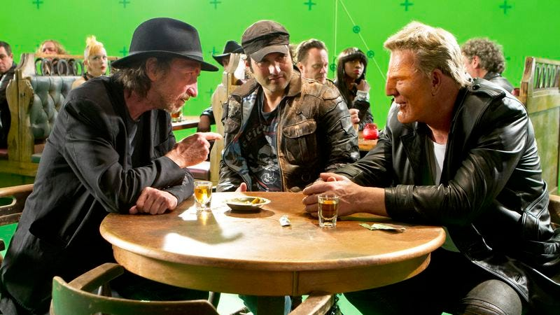 Frank Miller, Robert Rodriguez, and Mickey Rourke