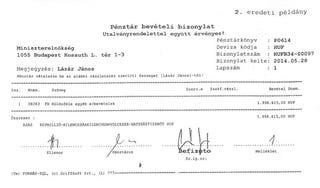 Illustration for article titled Tekintsétek meg Lázár János 2 millió forintos befizetési bizonylatát!