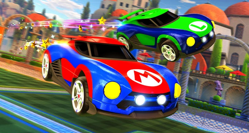 Rocket leagues switch version is getting nintendo cars