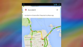 Illustration for article titled Google Maps Adds Incident Reports from Waze, Waze Gets Better Search