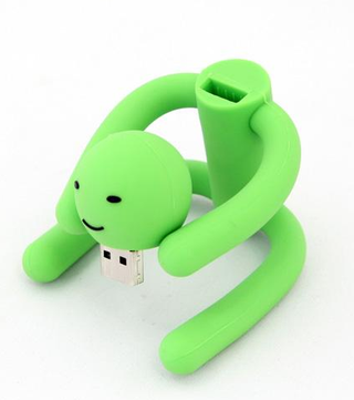 Illustration for article titled The Green Man USB Drive Can Do Impossible Yoga Poses