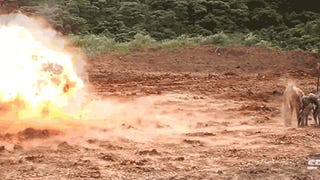 Marines blow up concrete walls prot