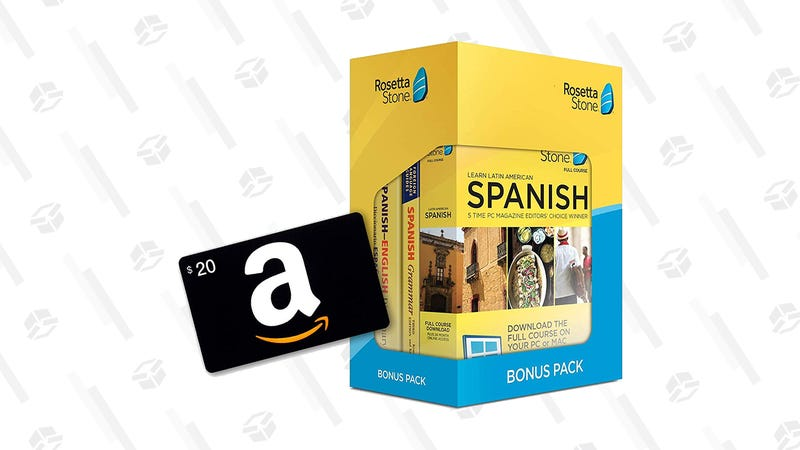 Rosetta Stone Bonus Pack + $20 Amazon Gift Card | $139 | Amazon