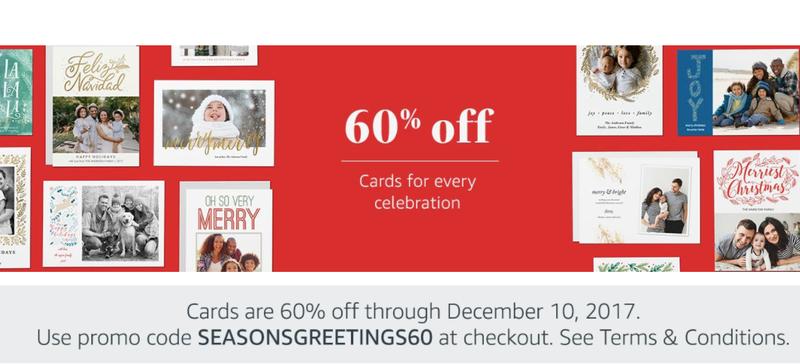 60% off Cards   Amazon   Use code SEASONGREETINGS60