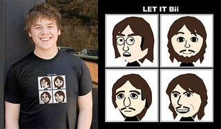 Illustration for article titled Beatles 'Let it Bii' Shirt Lacks Words of Wisdom