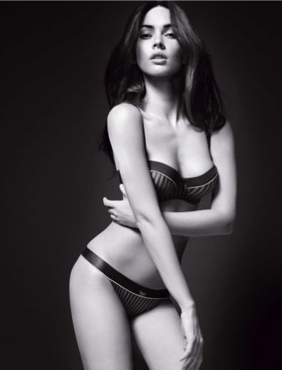 Illustration for article titled Megan Fox Takes It Off For Armani; Zoe Saldana Signs With Avon