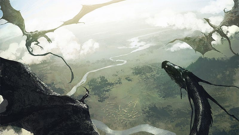 Illustration for article titled George R.R. Martin shows what happens when dragons go to war