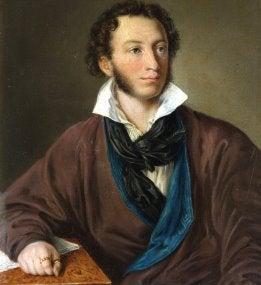 Alexander Pushkin, by V.A. Tropinin, 1827, Pushkin Museum