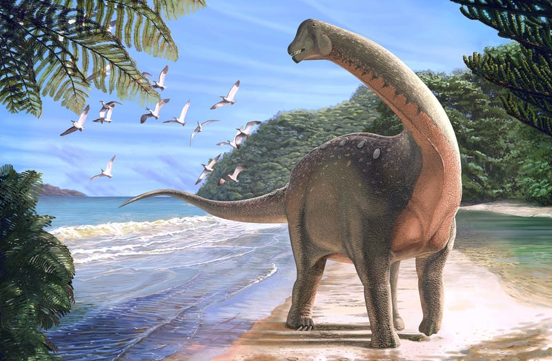 Artist's depiction of Mansourasaurus shahinae (Image: Andrew McAfee, Carnegie Museum of Natural History)