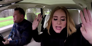 James Corden and AdeleYouTube screenshot