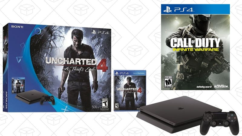 PS4 Slim Uncharted Bundle + Call of Duty Infinite Warfare, $300