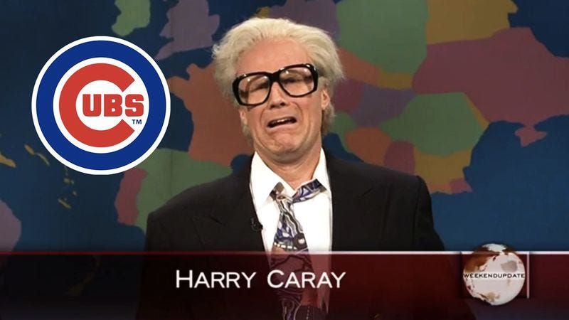 Will Ferrell as Harry Caray on SNL. (Graphic: Nick Wanserski)