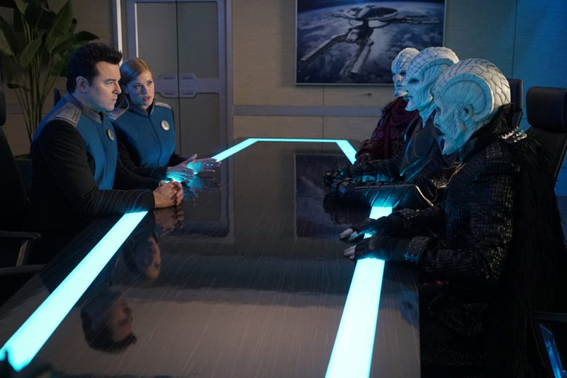 Illustration for article titled Bad blood threatens peace on The Orville