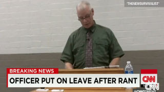 St. Louis County Police Officer Dan Page retires.  CNN Screenshot