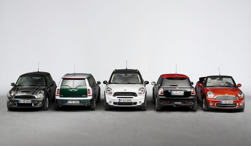 Illustration for article titled Mini's February Sales Figures Show How Badly Most Of Its Cars Sell