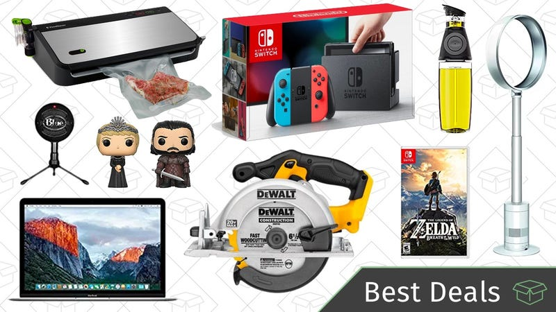 Illustration for article titled Wednesday's Best Deals: Discounted Nintendo Switch, DEWALT Tools, MacBooks, and More