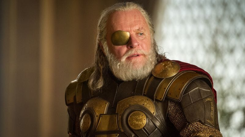 Anthony Hopkins as Odin in Thor: The Dark World