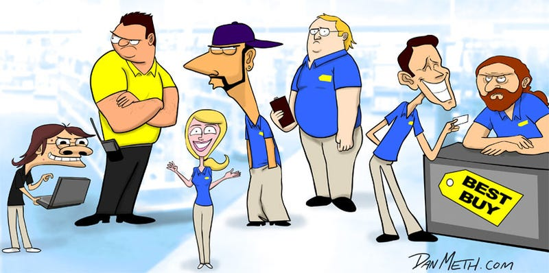 Illustration for article titled The Seven Types of Employees You Meet at Best Buy