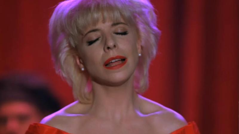 Julee Cruise, singing on Twin Peaks.