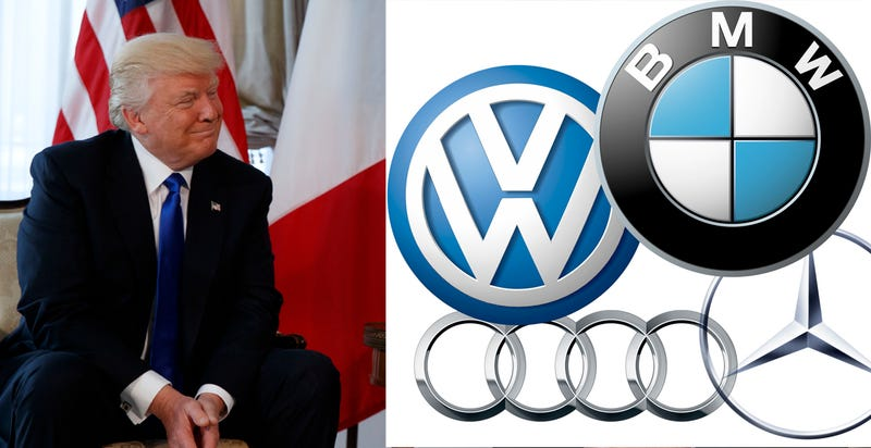 Illustration for article titled Donald Trump Calls Germans 'Very Bad,' Vows To 'Stop' German Car Sales In U.S.: Reports