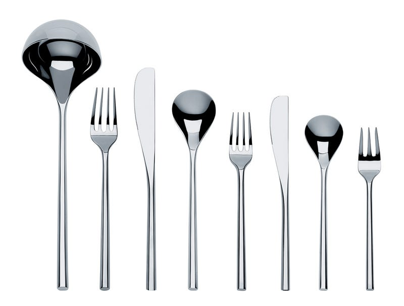 Illustration for article titled MU cutlery set by Toyo Ito shows curves
