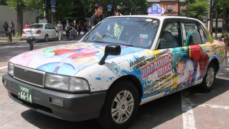 Illustration for article titled Behold, Japan's Geekiest Taxi Cabs